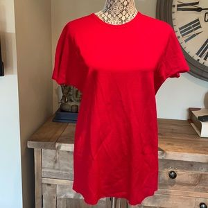 MARIE SAINT PIERRE RED PULL OVER MEDIUM MADE IN CANADA